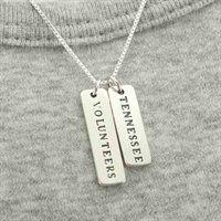 Tennessee Volunteers Ladies Sterling Silver Tag Necklace