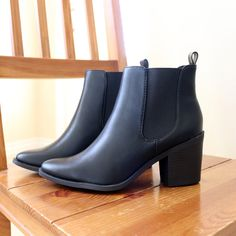 format-black-chelsea-ankle boots