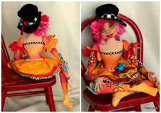 Fantasy Cloth Art Doll     C est La Vie by Treenickel on Etsy, $200.00