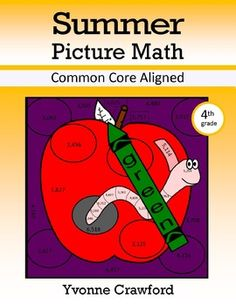 Summer Color by Number (4th Grade) Color by Rounding and Multiplication $