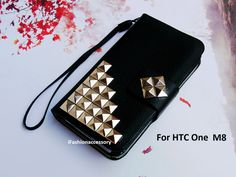 HTC One M8 wallet  Studded phone case  htc by iFashionAccessory, $15.98