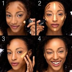 techniques de maquillage, autre technique pour sculpter som visage