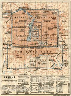 Beijing (Peking), city map, 1914