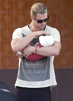 Chris and baby...