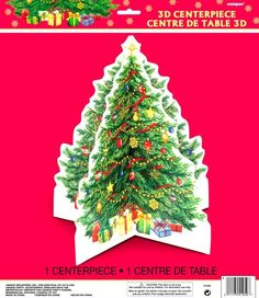 Starry Christmas Xmas Christmas Tree Deluxe 3D Centrepiece - 35cm