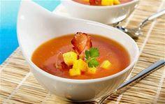Crema De Tomate Solferino Con Crujiente De Jamón
