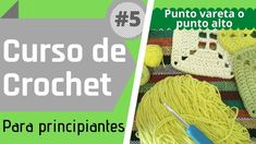 📌 Curso Básico de Crochet En este cuarto video vas a aprender a realizar el #PuntoVareta o #PuntoAlto Este punto es de los más tejidos.  Con él se hacen los típicos cuadrados al crochet o #GrannySquare , entre muchas otras cosas. #DoubleCrochet Visita nuestra web, donde encontrarás todos estos proyectos y más! www.crochetalcuadrado.com.ar Crochet Hats, Youtube, Goal, Slipknot, Beginner Crochet, Knit Bag, Knits, Knitting Hats, Youtubers
