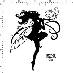 """Blockheads Stamp """"Musical Fairy"""" -- I think I like silhouette fairies better than detailed fairies.  The detailed ones never look like I want them to; I guess fewer details on the silhouette makes it more likely that it will look """"right"""" to me."""