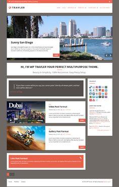 WP Travler, WordPress Responsive Tourism Travel Theme