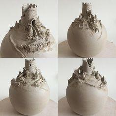 Earth Wool Fire : Ceramic Castle Vase