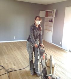 DIY How to refinish hardwood floors.  sanding wood floors.  I did it and so can you!