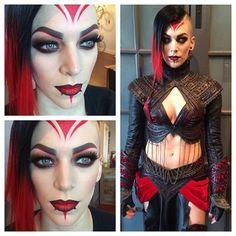 More #Dragoncon makeup fun with @miss_sinister #makeup #makeupartist #cosplay #cosplaymakeup #sith @jeffreestarcosmetics #redrum