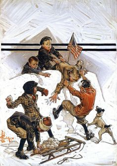 1931 ... snowball fight - J.C. Leyendecker | Flickr - Photo Sharing!