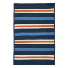 Found it at Wayfair - Painter Stripe Set Sail Blue Indoor/Outdoor Area Rug