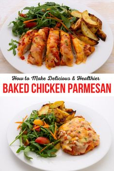This easy and delicious baked chicken parmesan recipe can have you putting a wonderful meal on your table in no time. It's also easy to make this dish low carb and keto friendly too.