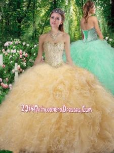 be38f6573a Gorgeous Sweetheart 2016 Quinceanera Dresses with Beading and Ruffles