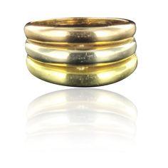 Bague 3 Ors. Un grand classique de la bijouterie moderne.