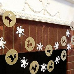 Bargain World Christmas Snowflake Reindeer Hanging Banner Flag Home Christmas Party Decoration *** Check out the image by visiting the link.