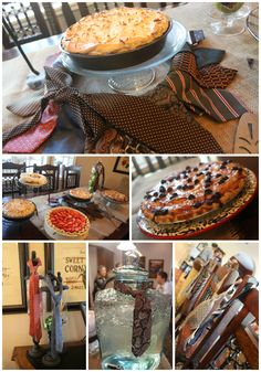 """""""Pies and Ties"""" Missionary Farewell Open House-- My sister-in-law did one of these parties. It was cute!"""