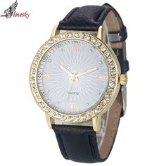 Cheap watches data, Buy Quality watch tungsten directly from China watch calculator Suppliers:  2016 Fashion Luxury Brand Watch Women Leather Quartz Ladies Watches Hour montre femme relogio feminino Crystal Dress Wa