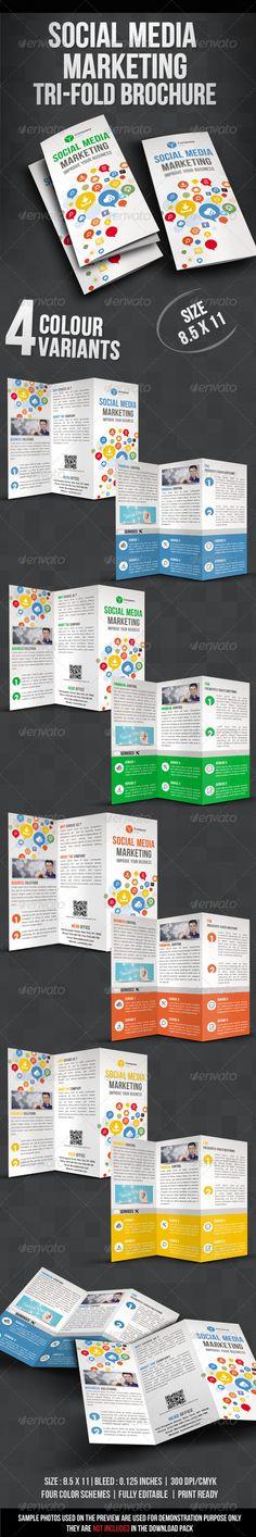 Social Media Marketing Tri fold Brochure