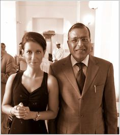 With His Excellency Mr. Gauri Shankar Gupta. Jónás Ágnes