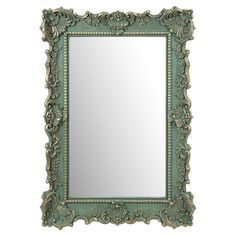 Add elegant style to your entryway, living room, or vanity with this chic wall mirror, showcasing a scrolling frame accented by nailhead-inspired details.   ...
