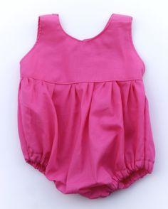 hot pink jumper, bubble, vintage baby girl boutique romper, orange, pink, red