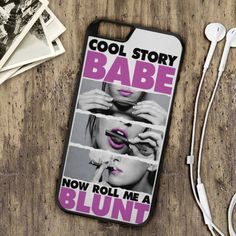 Roll A Blunt Babe Quote Weed Mary Jane Hard Shell Case by gprintco
