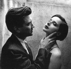 David Lynch and Isabella Rossellini by Helmut Newton