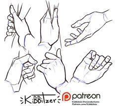 Hands reference sheet 9 | kibbitzer on Patreon