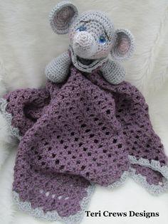 Crochet Pattern Elephant Huggy Blanket by Teri by TeriCrewsCrochet