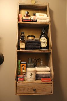I love having fun displaying bathroom shelves.