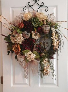 Summer, Fall Grapevine Wreath, SHIPPING INCLUDED, Elegant Designer Tuscan Peony Wreath, Large Silk Floral Wall, Door Arrangement, Wreath by GiftsByWhatABeautifu on Etsy