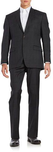 Lauren Ralph Lauren Windowpane Wool Pants Suit