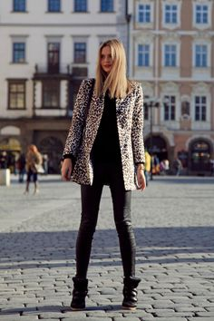 Wearing: H coat (similar here), Topshop knit, J Brand pants, Proenza Schouler bag, Isabel Marant sneakers, Michael Kors watch, Jacquie Aiche rings and Dior lipstick