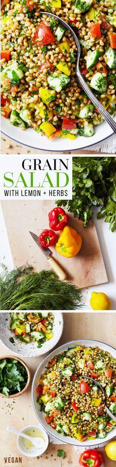 Grain Salad with Fresh Lemon & Herbs — Natural Girl Modern World