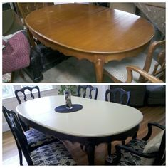 Dining room table make-over