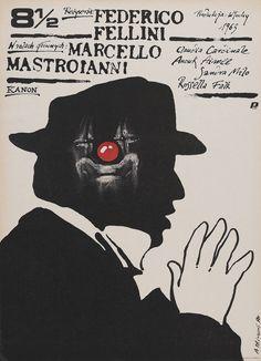 """ Polish Poster for 8½ (Federico Fellini, 1963) """