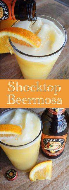 Shocktop beermosas - shock top and OJ!