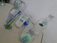 JARDIM COLORIDO DA TIA SUH: Lembrancinha de Dia das Mães: Kit para banheiro feito com garrafas PET