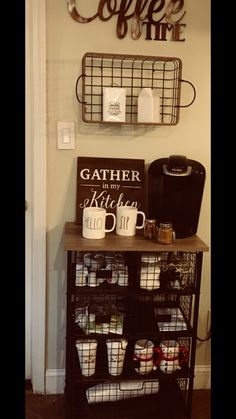 Loving our new little coffee bar in the kitchen #homegoodshappy #coffeebar #marshallsfinds
