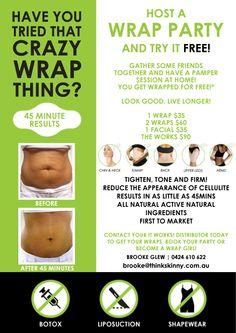 It Works Wrap Party Flyer   ... WRAPS   IT WORKS THE SKINNY ON HEALTH AND MONEY   SKINNY WRAPS   IT