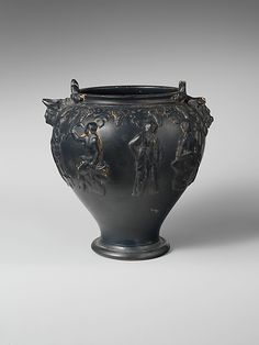 Terracotta situla (bucket)  Period: Hellenistic Date: early 3rd century B.C. Culture: Etruscan Medium: Terracotta