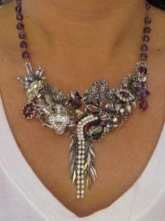 Vintage Steampunk Bib Style Crystal by Chicaseyecandyshop on Etsy, $25.00