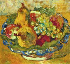 (1) Coups de cœur | Tumblr-Louis Valtat (1869-1952)   Nature morte, poires et raisins