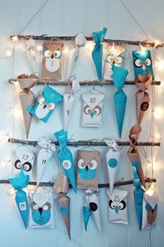 ▷ Design your own advent calendar - craft ideas for Christmas - Advent. DIY - advent calendar fill bastaln with paper wrapping paper more - Christmas Countdown, Christmas Calendar, Christmas And New Year, Christmas Holidays, Christmas Crafts, Christmas Decorations, Xmas, Merry Christmas, Advent Calenders