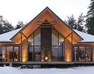 the modern house chalet style ideas for design vacanze ucrania stile pietra legno con moderno Cabin Homes, Log Homes, Beautiful Architecture, Architecture Design, Chalet Design, Chalet Style, Cabin House Plans, A Frame House, Cottage Plan