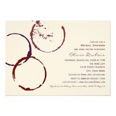 Bridal Shower Invitation   Red Wine Theme