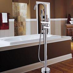 Delta Faucet T4759-FL Trinsic Floor Mount Tub Filler, Chrome